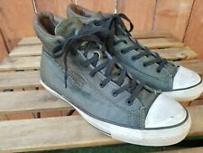 Converse X John Varvatos Green coated canvas zipper hi top sneakers Size 10