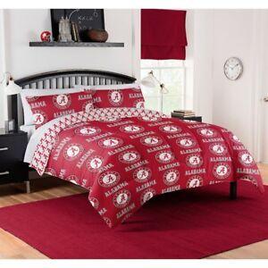 Alabama Crimson Tide Full Comforter & Sheet Set, 5 Piece NCAA Bedding, NEW!