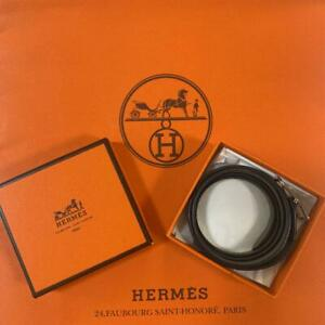 HERMES PARIS Bracelet Leather color Brown With Box Made in FRANCE Unisex