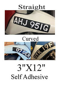 Classic Scooter vespa lamberetta Number Plate  Stick On Self Adhesive