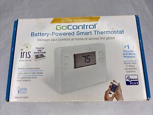 GoControl Smart Thermostat Z-Wave Plus Battery Powered GC-TBZ48L Iris Smarthub
