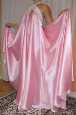VTG Lingerie Satin Slip FULL Sweep Negligee Halter Babydoll LONG Nightgown XL-2X