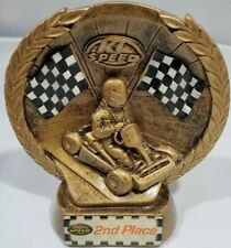 """K1 Speed Race Cart Trophy 2and place Go Cart 6"""" by 5""""by 2"""" excellent condition"""