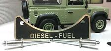 Landrover Defender TD5 TDCi TDi Diesel Kraftstoff Einfüllstutzen Warn Emblem