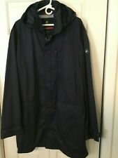 Victorinox Swiss Army Long Raincoat Navy with Hood water repellent XL