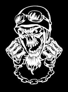 high detail airbrush stencil biker skull FREE POSTAGE
