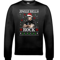 THE ROCK CHRISTMAS JUMPER, Mens Funny Dwayne Johnson Unisex WWF Movie Sweatshirt