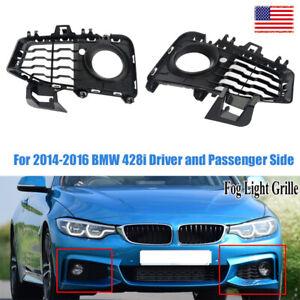 For BMW 4 F32 F33 F36 OEM Front M Bumper Fog Light Grill Trim Set 2013-2020