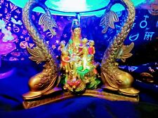 Buddha Delight Art Lamp w/ Vaseline Glass and Glass Buddha in UV plates With UV