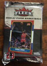 2006-07 FLEER BASKETBALL 10 CARD SEALED PACK 1986-87 20th ANNIVERSARY JORDAN