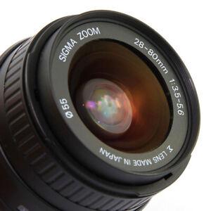 SIGMA 28-80mm f/3.5-5.6 AF Zoom Lens for Pentax K-Mount  Made in Japan Autofocus