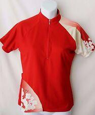 Louis Garneau Womens Sz S Small Cycling Jersey Red Short Sleeve Half Zipper USA