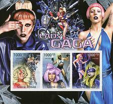 Guinée-Bissau 2011 neuf sans charnière Lady Gaga 3V m / s des célébrités pop stars