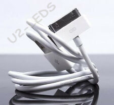 (LOT 2X) 30-Pin to USB Charger Data Cable Apple iPhone 4 4S 3GS iPod iPad Nano