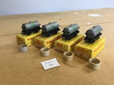 Triang TT Excellent Lot 14 X4 T.73 Shell BP Oil Tankers