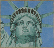 NEEDLEPOINT HANDPAINTED Canvas Sandra Gilmore LIBERTY w/ STITCH GUIDE New York