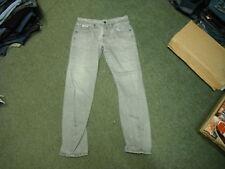 "Dissident Arc Leg Jeans Waist 34"" Leg 34"" Grey Faded Mens Jeans"