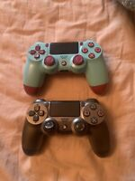 2 PLAYSTATION 4 DUAL SHOCK CONTROLLERs (AS-IS FOR PARTS ONLY NOT WORKING)