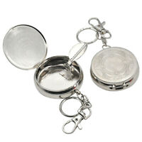 Portable Ashtray Car Cigarette Ashtray Stainless Steel Ashtray with Key Chai_ti