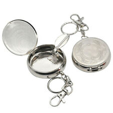 Portable Ashtray Car Cigarette Ashtray Stainless Steel Ashtray with Key Chain