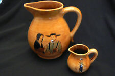 Vintage Pennsbury Pottery Pitcher and Creamer Amish Pretzel Apple FREE US SHIP