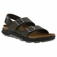 Birkenstock Milano CT Birko Flor REGULAR Fit Mens Green Walking Sandals Size