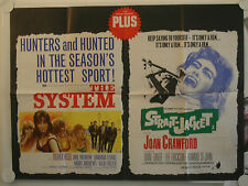 the system straight jacket double bill uk quad film poster