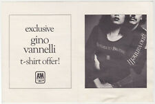 Gino Vanelli - A&M Records tee shirt order form Brother To Brother