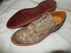 New Men's Walk-Over Camo Oxford Lace Up Shoes Size 9 MADE IN USA  $250 SOLD OUT!