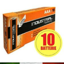 10 Batterie Duracell Mini Stilo Industrial Procell Pile Alcaline Ministilo AAA