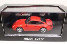 Minichamps Porsche 911 Turbo 993 Indischrot 1995 1:43 NEU Limited Edition indian
