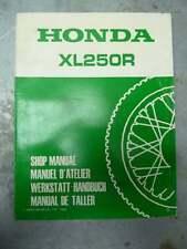 MANUEL D'ATELIER HONDA,SHOP MANUAL,WERKSTATT-HANDBUCH,TALLER XL250R XLR