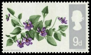 """GREAT BRITAIN 492p - Wild Flowers """"Dog Violet"""" Tagged (pb23342)"""