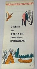 vintage brochure museum Quebec Abenakis D'Odanak village paper French/English