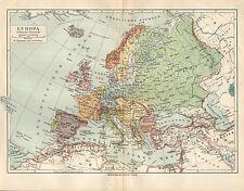 L'Europa Stati Deutsches Reich Francia Italia BIGLIETTO LITOGRAFIA 1907