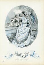 """""""BELLE DE JOUR PARFUM DU CHEVALIER D'ORSAY"""" Annonce originale entoilée 1944"""