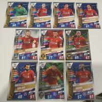 2020 Liverpool Team Set Soccer Cards Match Attax 101 (10 cards incl 2 shiny)