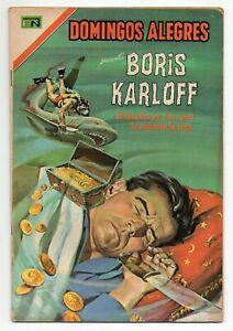 DOMINGOS ALEGRES #707 Boris Karloff, Novaro Mexican Comic 1967