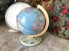 VINTAGE RETRO TOY TIN PLATE WORLD GLOBE BY CHAD VALLEY.