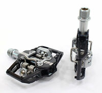 HT Components T1 Mountain Bike Trail Pedals, Black, Clipless, with Cleats