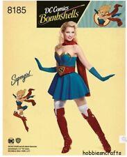 Einfachheit Nähen Schneiderei Muster Dc Comics Supergirl H5 - Größen 6 - 14
