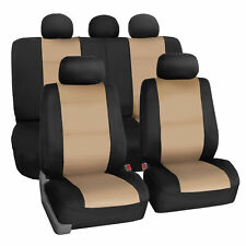 Car Seat Cover Neoprene Waterproof Pet Proof Full Set Cover Beige