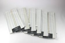 Martha Stewart 100% Cotton Place Mat White, Gray and Gold Stripe, Set of 6