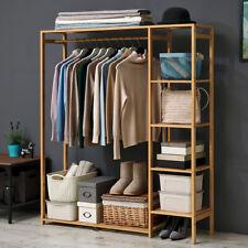 Großer kleiderständer Garderobenständer Kleiderstange Garderobe Ablagen+Vorhang