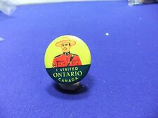 vtg badge canadian mountie i visited ontario souvenir tin badge 1930s 40s