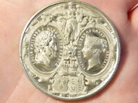 1844 Visit of King Louis Philippe to Queen Victoria England Medal WM #Q34