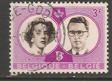 Belgium #561 (A154) VF USED - 1960 3fr King Baudouin and Queen Fabiola