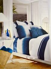 NIP RALPH LAUREN 4pc KING INDIGO MODERN DUVET COVER /BEDSKIRT & SHAMS COTTON