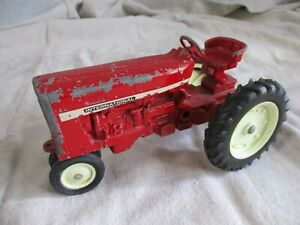International Harvester vintage red metal painted tractor toy