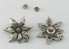 2 Blüten Zierniete  Metall Applikatione Zierteil Trachten 07.69/336